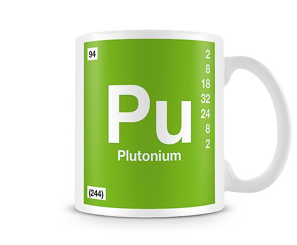Element Symbol 094 Pu - Plutonium Printed Mug
