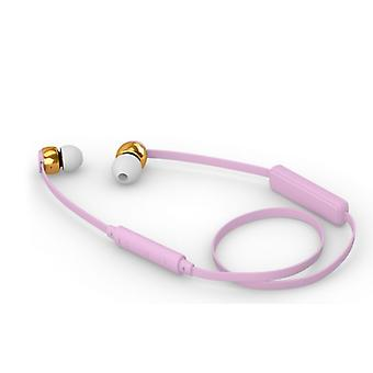 Sudio Vasa Blah Wireless In-Ear Headphones With Charger In Cherry Blossom Pink With Gold Metal