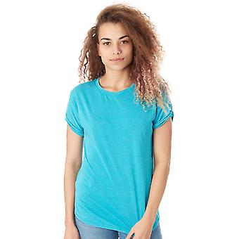 Fox Jade Escaped Crew Roll Sleeve Womens T-Shirt