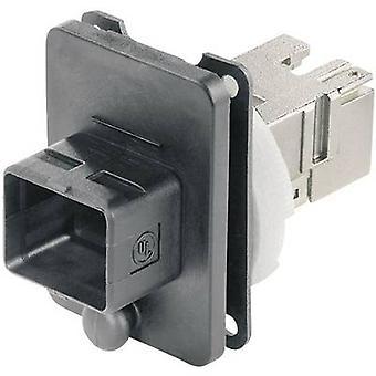 RJ45 flange set version 4 Connector, mount Number of pins: 8P8C J80020A0005 Black Telegärtner J80020A0005 1 pc(s)