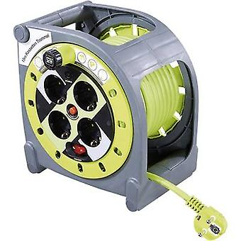 Goobay 51267 Cable reel 15 m Green PG right-angle plug