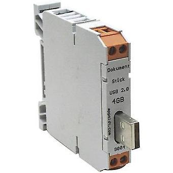 Carril de montaje USB stick 1 PC Appoldt 8 GB-USB 2.0-A IP54