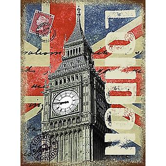 London Big Ben Small Metal Sign 200Mm X 150Mm