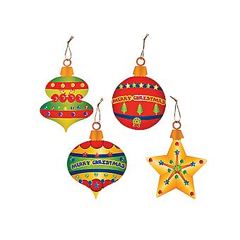 24 Large Christmas Ornament Sticker Crafts for Kids