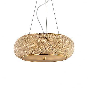 Ideal Lux Pasha' 10 Bulb Pendant Light Gold