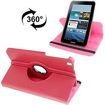 Schutzhülle Tablettasche (Flip Quer) für Samsung Galaxy Tab 3 8.0 T3110 T3100 pink