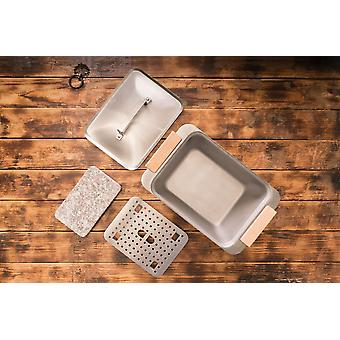 Warm-hold and evaporating box even box BBQ accessories stainless steel granite slab