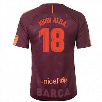 2017 / 18 Barcelona Nike tredje skjorte (Jordi Alba 18)