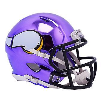 Riddell, capacete de futebol mini - NFL Minnesota Vikings CHROME