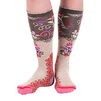 Thank You! women's crazy cotton knee-high socks designed in France by Fil de Jour
