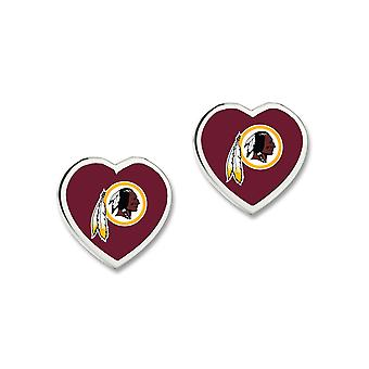 Wincraft ladies 3D heart Stud Earrings - NFL Washington Redskins