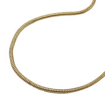 Thin snake chain gold plated