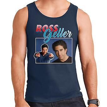 Ross Geller tributo Montage gilet uomo