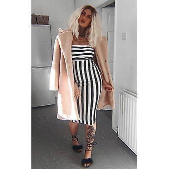 IKRUSH Womens Silvee Bandeau Stripe Midi Dress