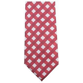 Knightsbridge Neckwear Bold Checked Tie - Red/White