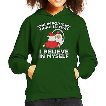Christmas Santa Important That I Believe In Myself Kid's Hooded Sweatshirt
