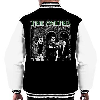 The Smiths Band Shot Salford Lads Club Men's Varsity Jacket