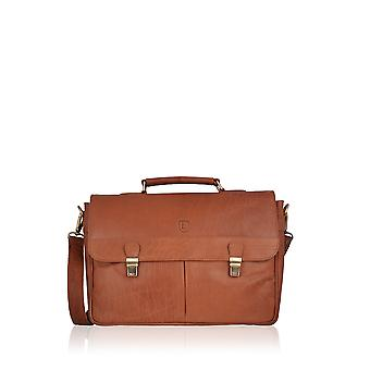 Keswick Leather Briefcase in Tan