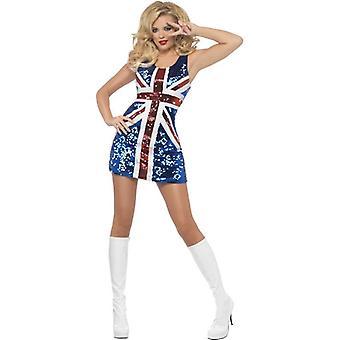 Fever All that Glitters Rule Britannia Costume, UK Dress 16-18
