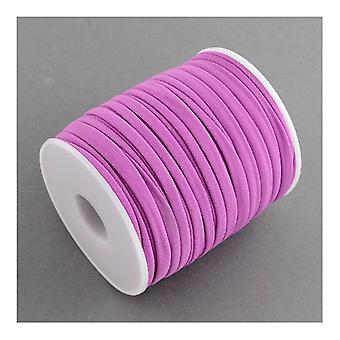 1 x Lilac Habotai Stretchy Spandex 2m x 5mm Thong Cord Continuous Length Y05390