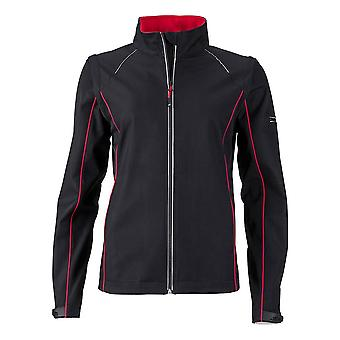 James and Nicholson Women/Ladies Zip-Off Softshell Jacket