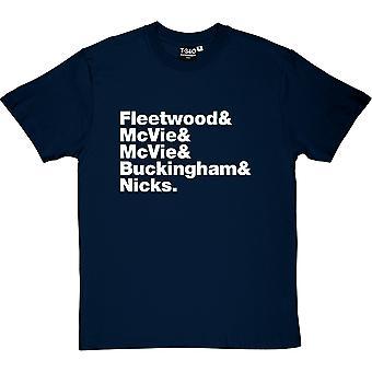 Fleetwood Mac Line-Up Herren T-Shirt