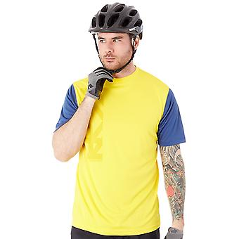 Royal Racing Yellow Heather-Navy 2017 Core Short Sleeved MTB Jersey