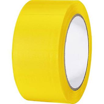 TOOLCRAFT 832450G-C PVC tape Yellow (L x W) 33 m x 50 mm 1 Rolls