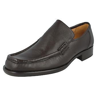 Mens Grenson Formal Moccasin Shoes Dean 9637-39 Brown Grain Size UK 9.5F
