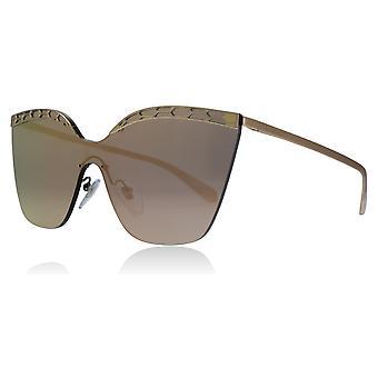 Bvlgari BV6093 20144Z Pink guld/guld BV6093 katte øjne solbriller linse kategori 3 linse spejlede størrelse 37mm