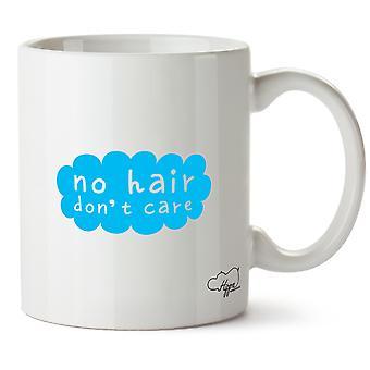 Hippowarehouse geen haar, niet schelen bedrukte mok Cup keramiek 10oz
