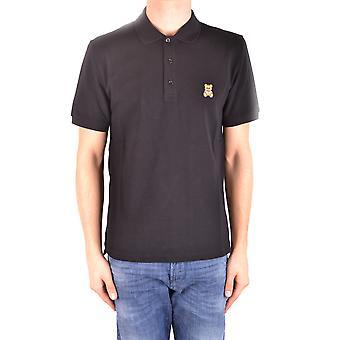 Camisa Polo de algodón negro de Moschino