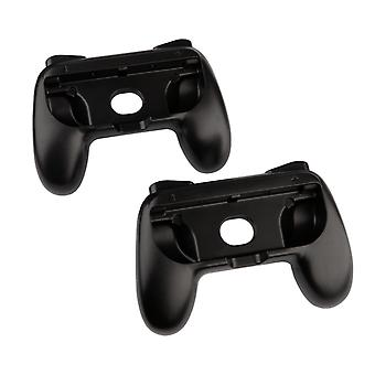 REYTID Replacement Grips for Nintendo Switch Console Joy-Cons Protective Hard Cover Case - 2 Pack (Black)