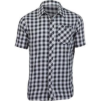 Fox Racing Mens Troubled Mind SS Woven Plaid Shirt - Black/Gray/Black