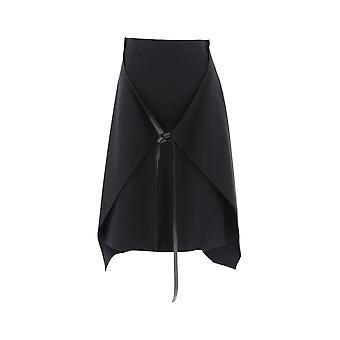 Loewe Black Cotton Skirt