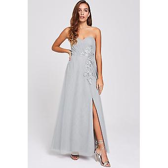 Kleinen Herrin Lissa Waterlily herzförmiger Ausschnitt Maxi-Kleid