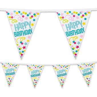6 Metre Plastic Bunting Happy Birthday Party Celebration