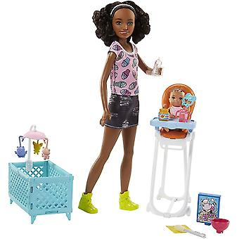 Barbie FHY99 Babysitters with Doll and Playset Multi-Colour One Size