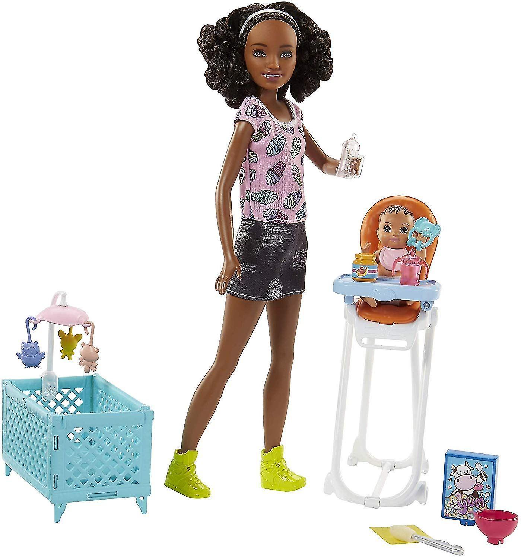 Barbie FHY99  sitters avec poupée et Playset Multi-Couleur One Taille