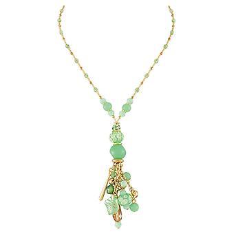 Evige samling Valentina Mint grøn Muranoglas charme Y stil vedhæng halskæde