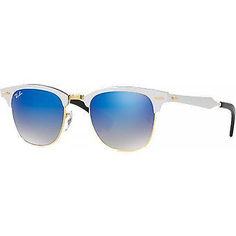 Ray - Ban Clubmaster aluminum Silver/Gold mirrored Blue Medium