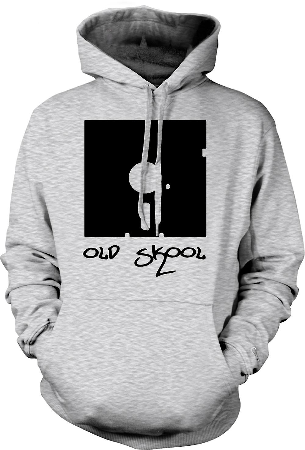 Mens Hoodie - Old Skool Floppy Disc - Funny