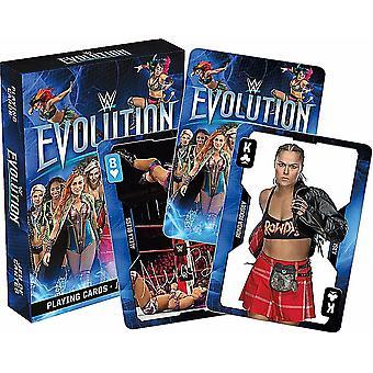 WWE Evolution Divas conjunto de 52 cartas de juego + comodines (nm)