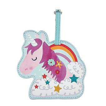 Childrens Unicorn chunky luggage tag