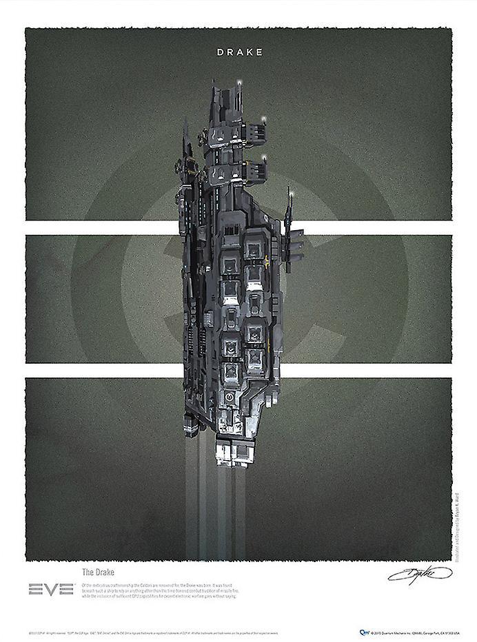 Affiche - EVE Online Battlecruisers - Art Print Set of 4 nouveau Licensed eve-0101