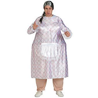 Big Momma fedt bedstemor bedstemor Chef kok sjove mænd kostume STD