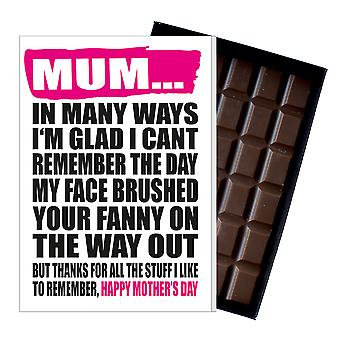 Funny Mother's Day Gift Boxed Chocolate Present Rude Greeting Card For Mom Mum Mumy MIYF129