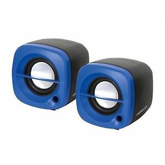 Омега Pc колонки 2.0 ОГ-15 6W Usb синий (кухонная техника, электроника)