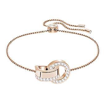 Swarovski Hollow Bracelet - White - Rose Gold Plate