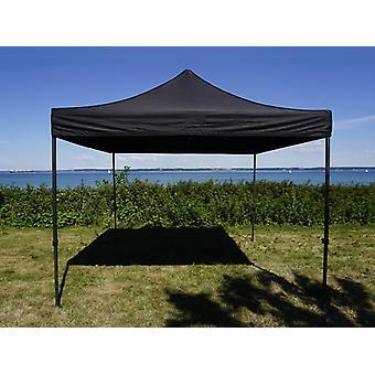 Vouwtent/Easy up tent FleXtents Easy up pavillon Basic v.3, 4x4m Zwart